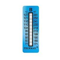 TSTRIPE10-B, (77°C-127°C), 10 Levels, Pack of 10